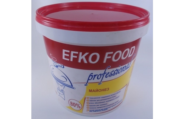 Майонез EFKO FOOD Professional 80% 3кг/4шт/6мес